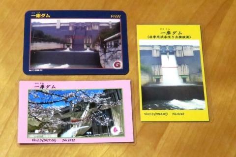 配布された3種類のダムカード